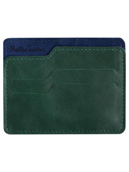 Чехол для карточек Roma, зелено-синий