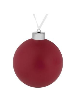 Елочный шар Color, 10 см, красный