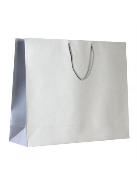 Пакет бумажный «Блеск», большой, серебристый