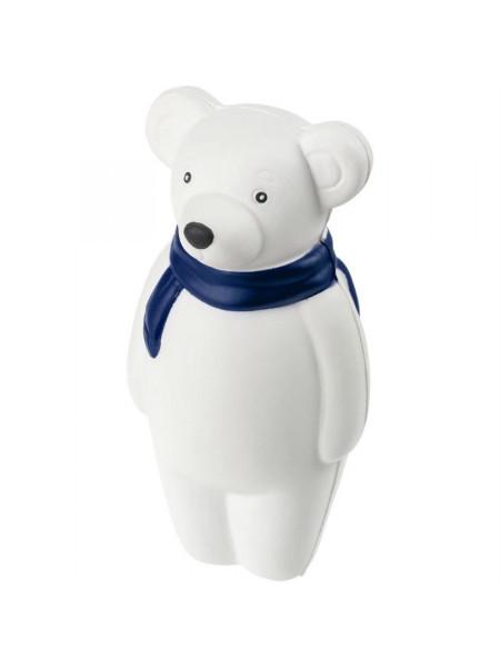 Сквиши-антистресс «Мишка», с синим шарфом