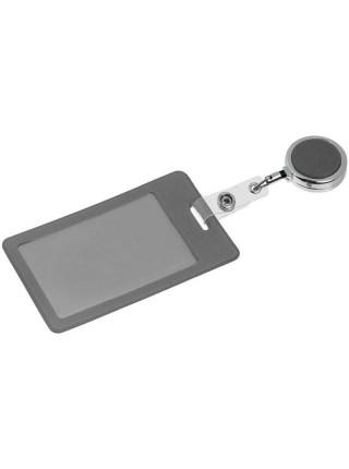 Чехол для пропуска с ретрактором Devon, серый