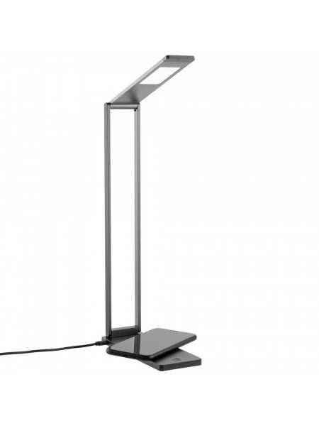 Лампа Power Steel Spot с беспроводной зарядкой, серый металлик