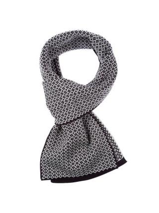 Шарф Crown, черно-серый