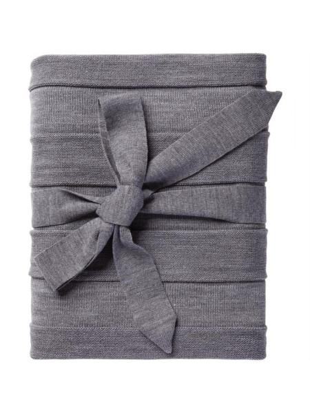 Плед Pleat, серый