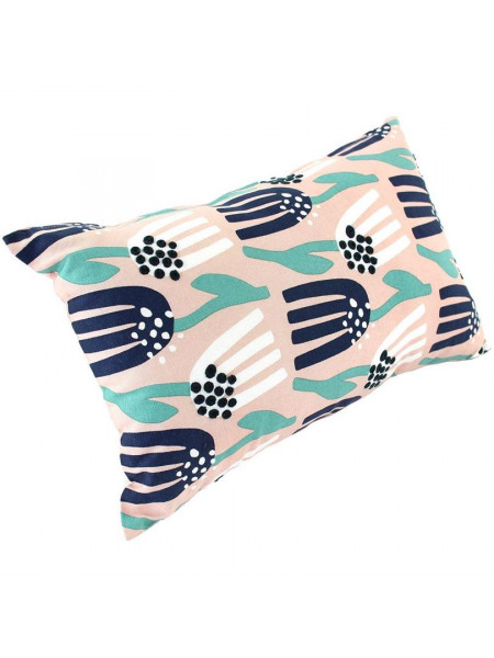 Чехол на подушку Lazy flower, прямоугольный, розовый