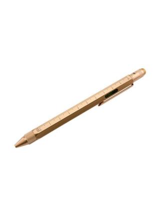 Ручка шариковая Construction, мультиинструмент, золотистая