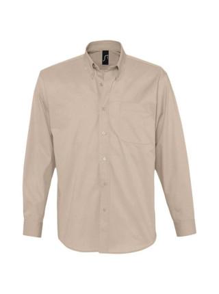 Рубашка мужская с длинным рукавом BEL AIR, бежевая