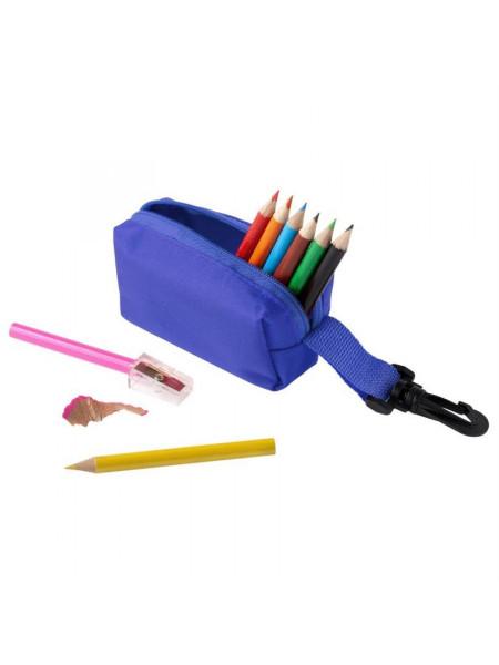Набор Hobby с цветными карандашами и точилкой, синий