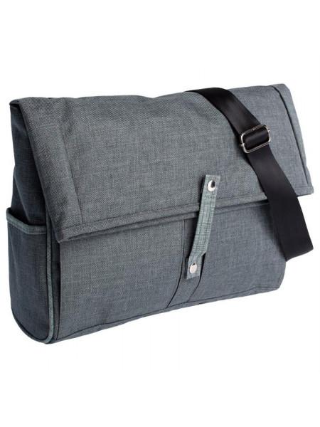 Сумка для ноутбука 2 в 1 twoFold, серая с темно-серым