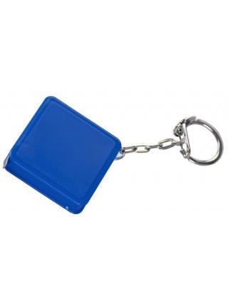 Брелок Square с рулеткой 1 м, синий