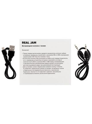 Беспроводная колонка с часами Real Jam, черная