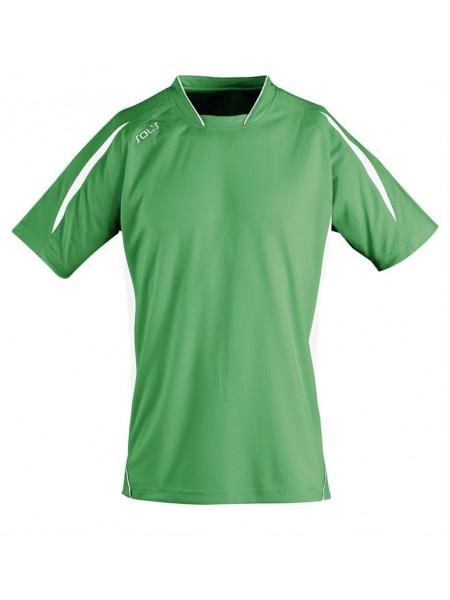 Футболка спортивная MARACANA 140, зеленая с белым
