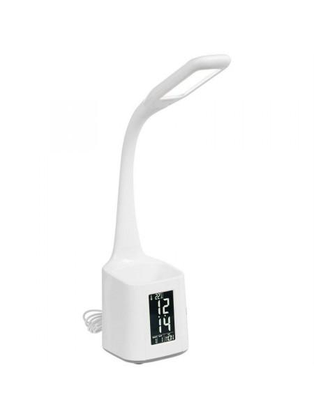 Настольная лампа с подставкой для ручек Bendy, белая
