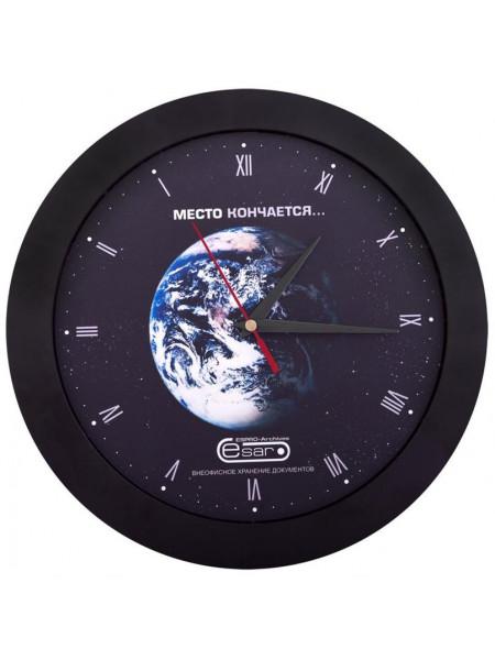 Часы настенные Vivid Large, черные