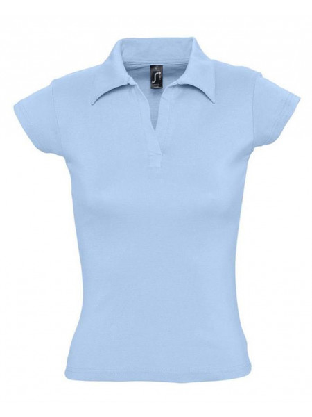 Рубашка поло женская без пуговиц PRETTY 220, голубая