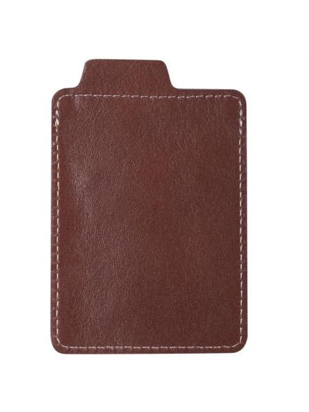 Чехол для пластиковой карты Security, темно-коричневый