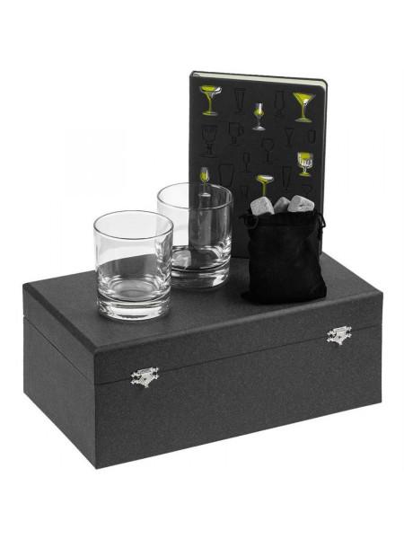 Набор «Культура пития», с бокалами и камнями для виски
