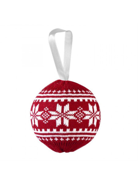Шар новогодний «Скандик», красный