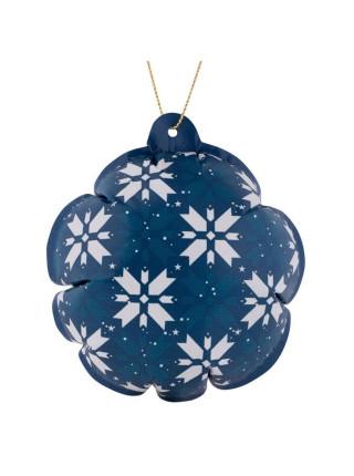 Новогодний самонадувающийся шарик «Скандик», синий