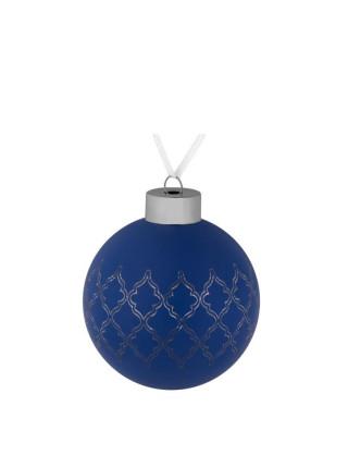 Елочный шар King, 8 см, синий