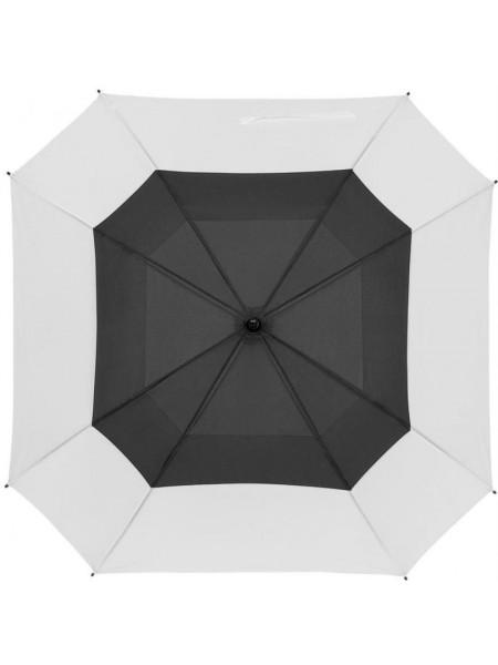Квадратный зонт-трость Octagon, черный с белым