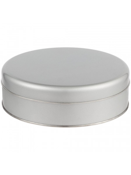 Коробка круглая Flapjack, большая, серебристая
