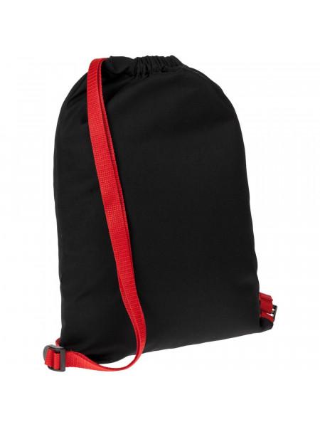Рюкзак Nock, черный с красной стропой