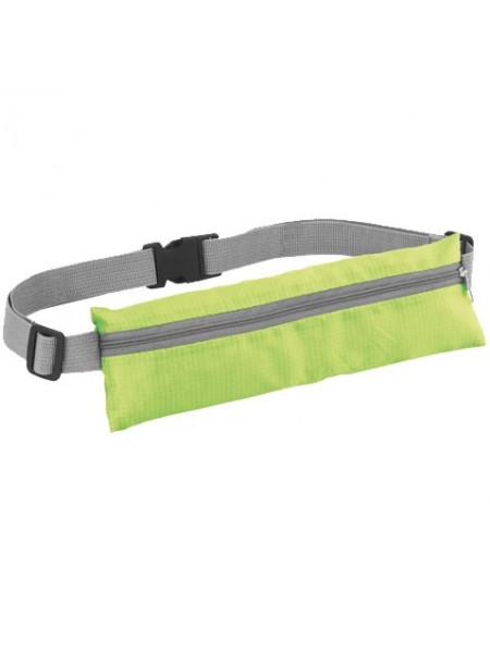 Спортивная поясная сумка On the Run, зеленая