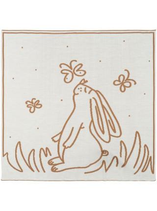 Детский плед Tender. Rabbit, песочный с белым