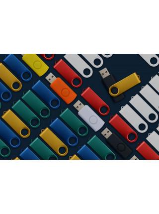 Флешка Twist Color, зеленая с белым, 8 Гб