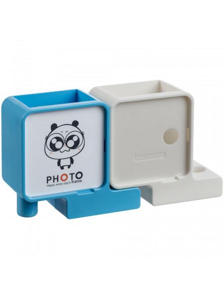 Органайзер с фоторамкой Officelover, белый с голубым