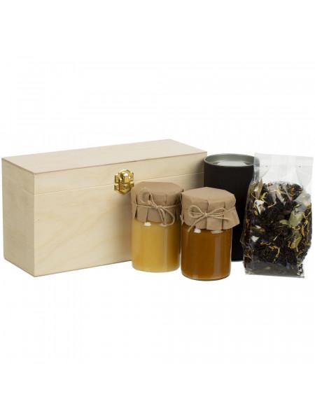 Набор с чаем и медом Right Bees, черный
