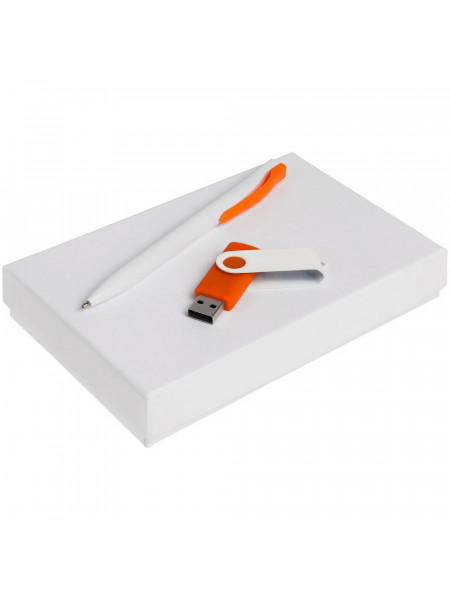Набор Twist White, белый с оранжевым, 16 Гб