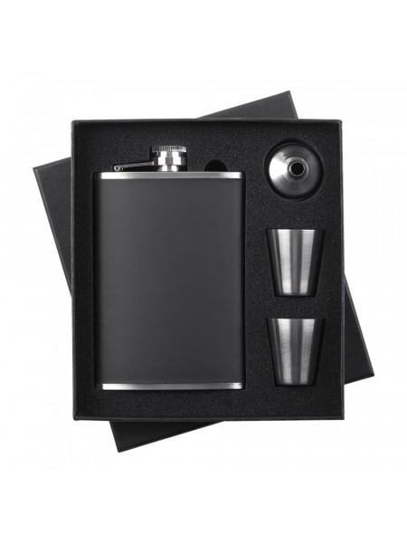 Набор Trusty: фляжка, стаканчики и воронка, черный