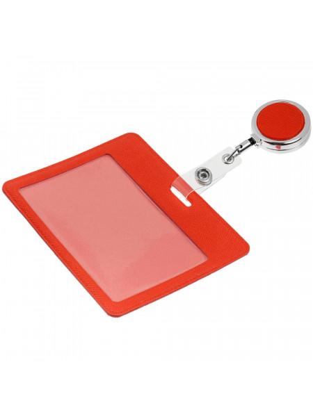 Чехол для карточки с ретрактором Devon, красный