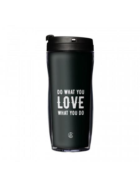 Термостакан Do Love, с черной крышкой
