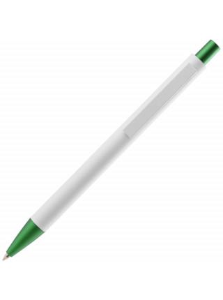 Ручка шариковая Chromatic White, белая с зеленым
