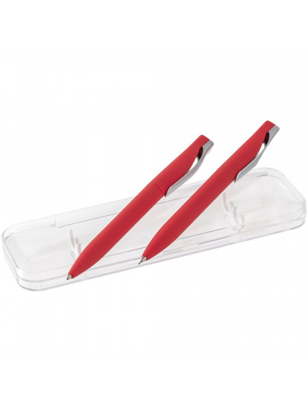 Набор Pin Soft Touch: ручка и карандаш, красный