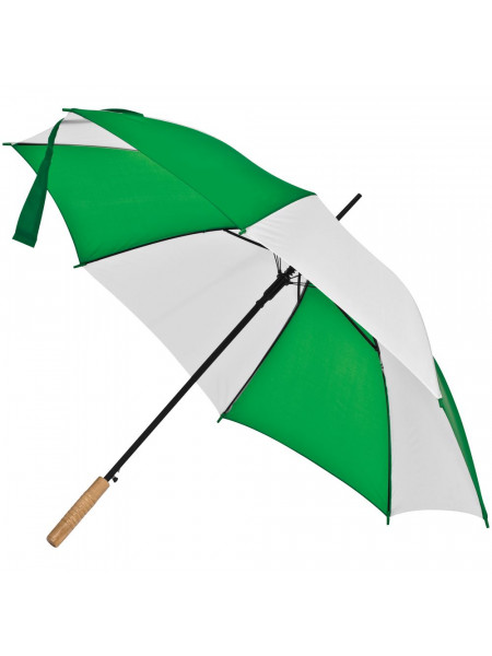 Зонт-трость Milkshake, белый с зеленым