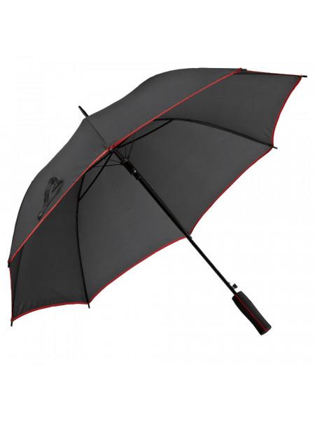 Зонт-трость Jenna, черный с красным