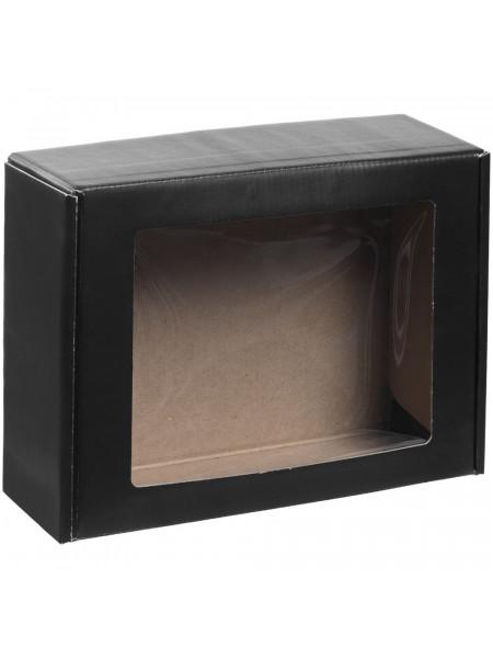 Коробка с окном Visible, черная, уценка