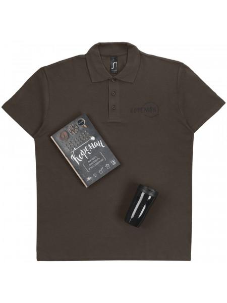 Набор «Кофеман» с рубашкой поло, черный