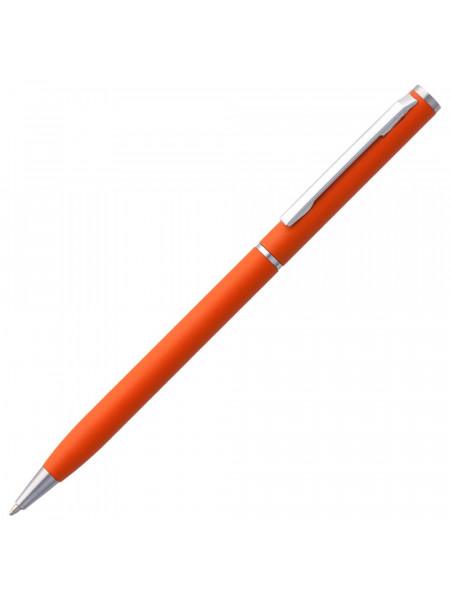 Ручка шариковая Hotel Chrome, ver.2, матовая оранжевая