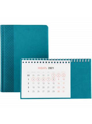 Календарь настольный Brand, бирюзовый