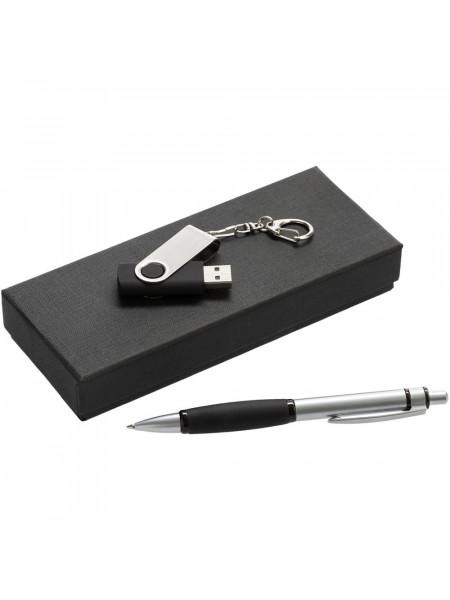 Набор Notes: ручка и флешка 16 Гб, черный