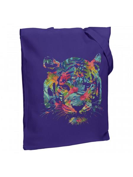Холщовая сумка Jungle Look, фиолетовая