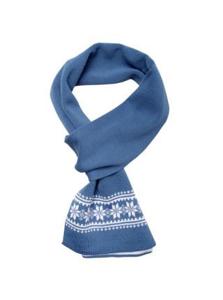 Шарф «Скандик», синий (индиго)