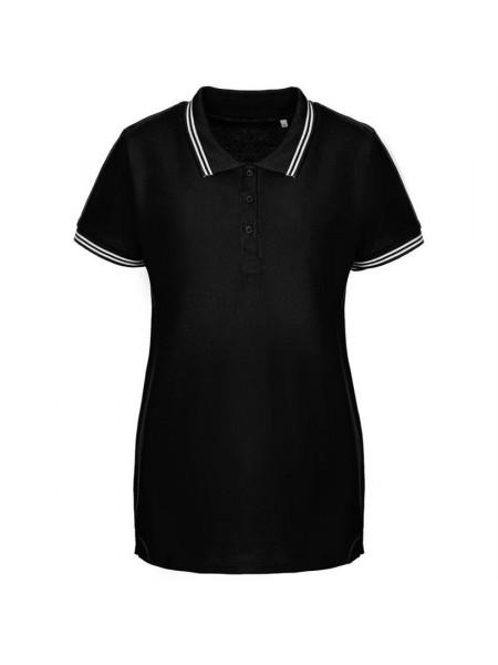 Рубашка поло женская Virma Stripes Lady, черная
