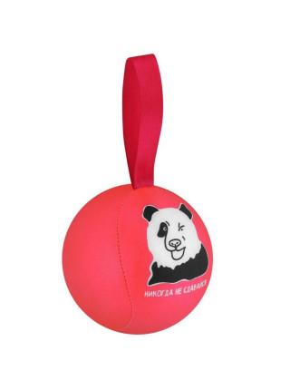Шарик-антистресс с пожеланием «Панда», розовый
