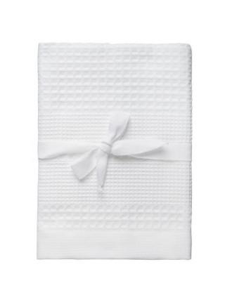 Полотенце вафельное Adore Small, белое